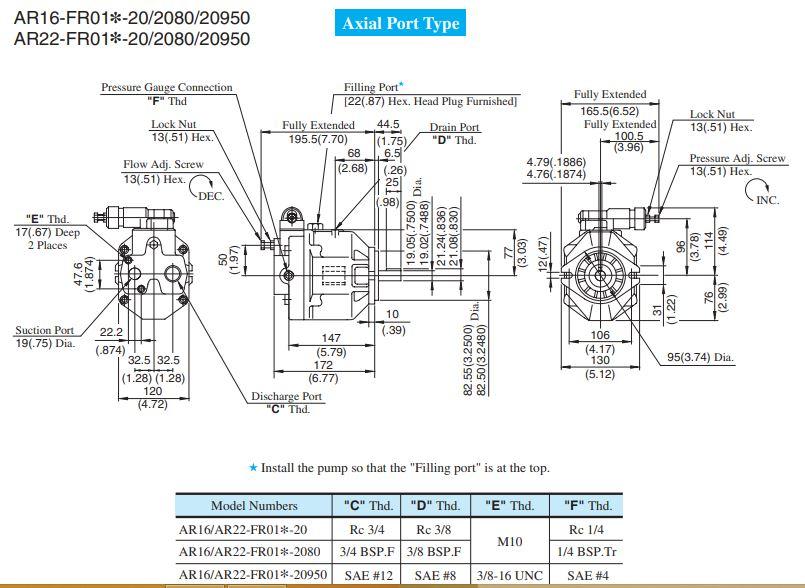 bom-piston-yuken-AR16-F-R-01/AR22-F-R-01
