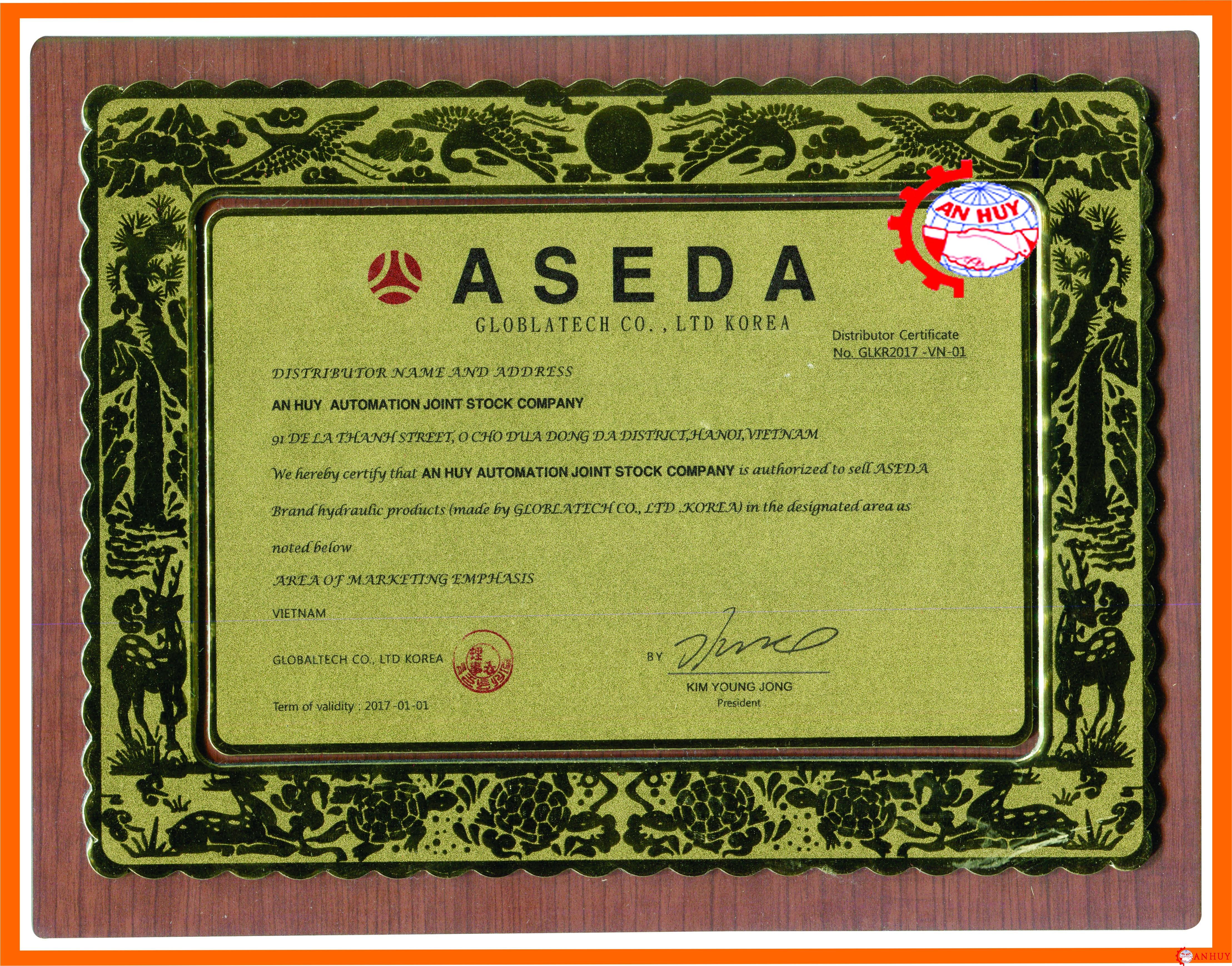 Giấy chứng nhận ASEDA